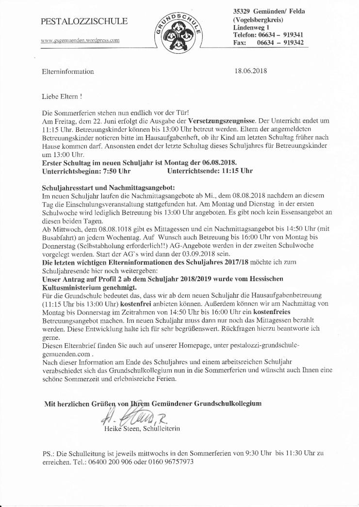 Infobrief Juni 2018